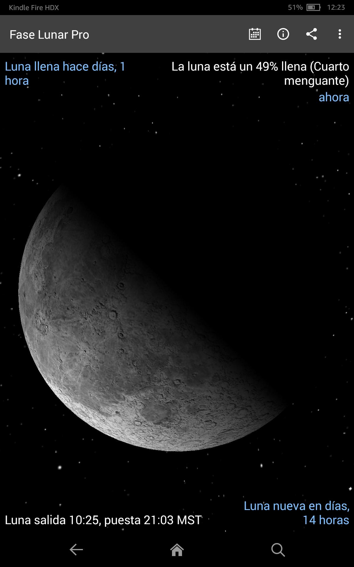 Fase Lunar Pro + Eclipses Lunar: Amazon.es: Appstore para Android