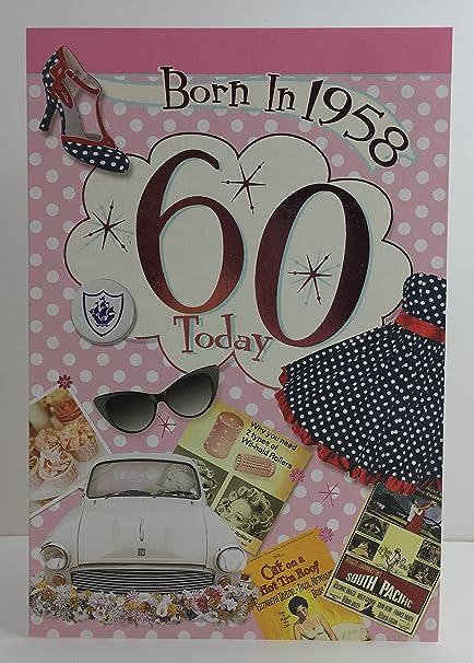 Hembra de 60 años 60th Tarjeta de cumpleaños año You Were ...