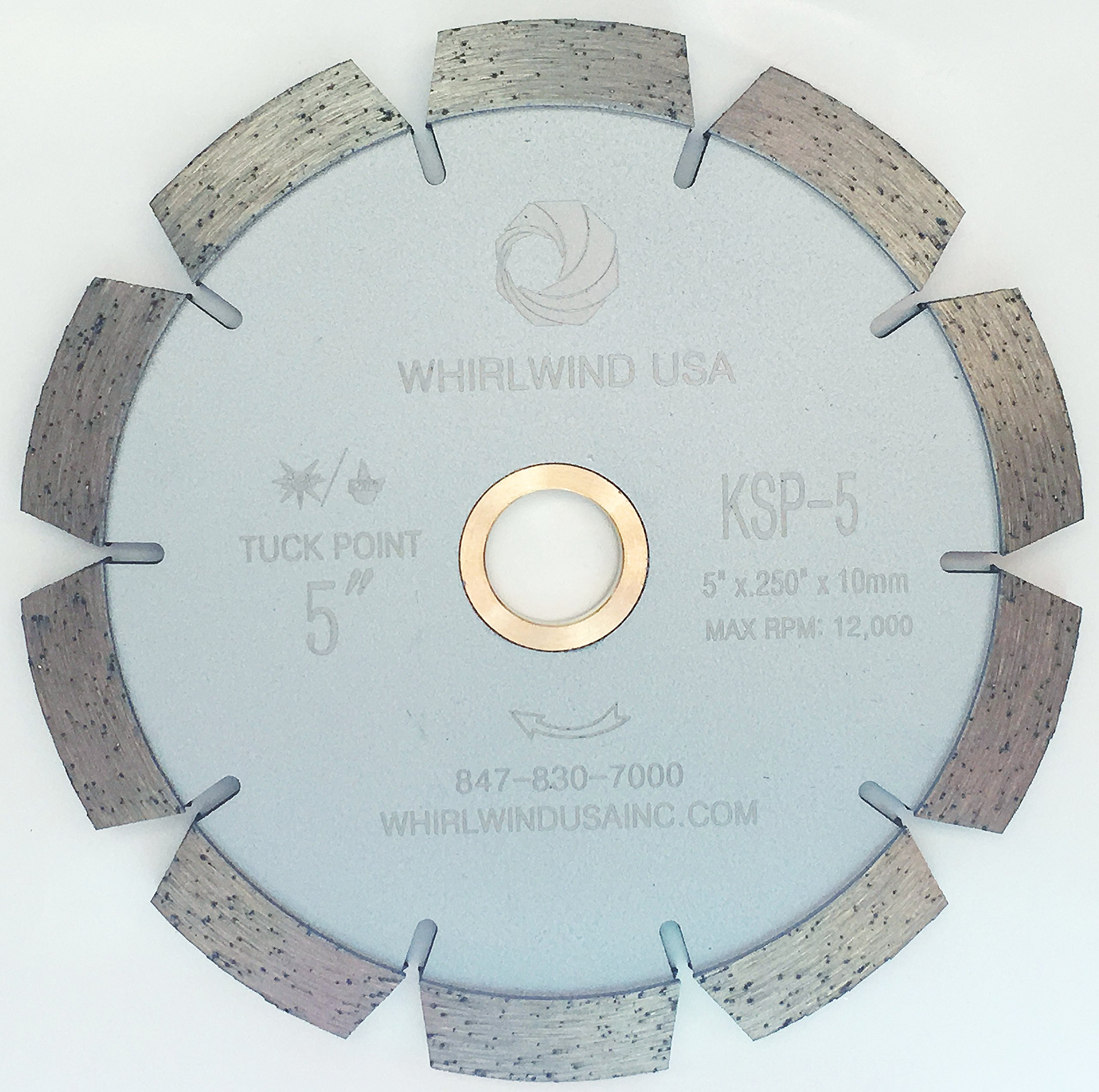 Whirlwind USA KSP 5-Inch Dry or Wet Cutting Standard Tuck Point Blade for Concrete Mortar (Factory Direct Sale) (5'')