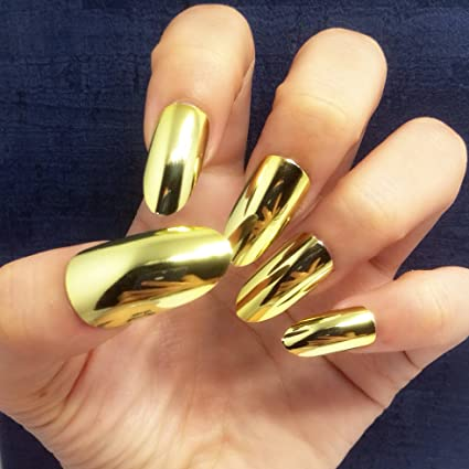 BloomingBoom 24Pcs Falsa Uña Completo Fake Nail Complets Impreso Manicura Nail Art Tips Pre Diseño Punto