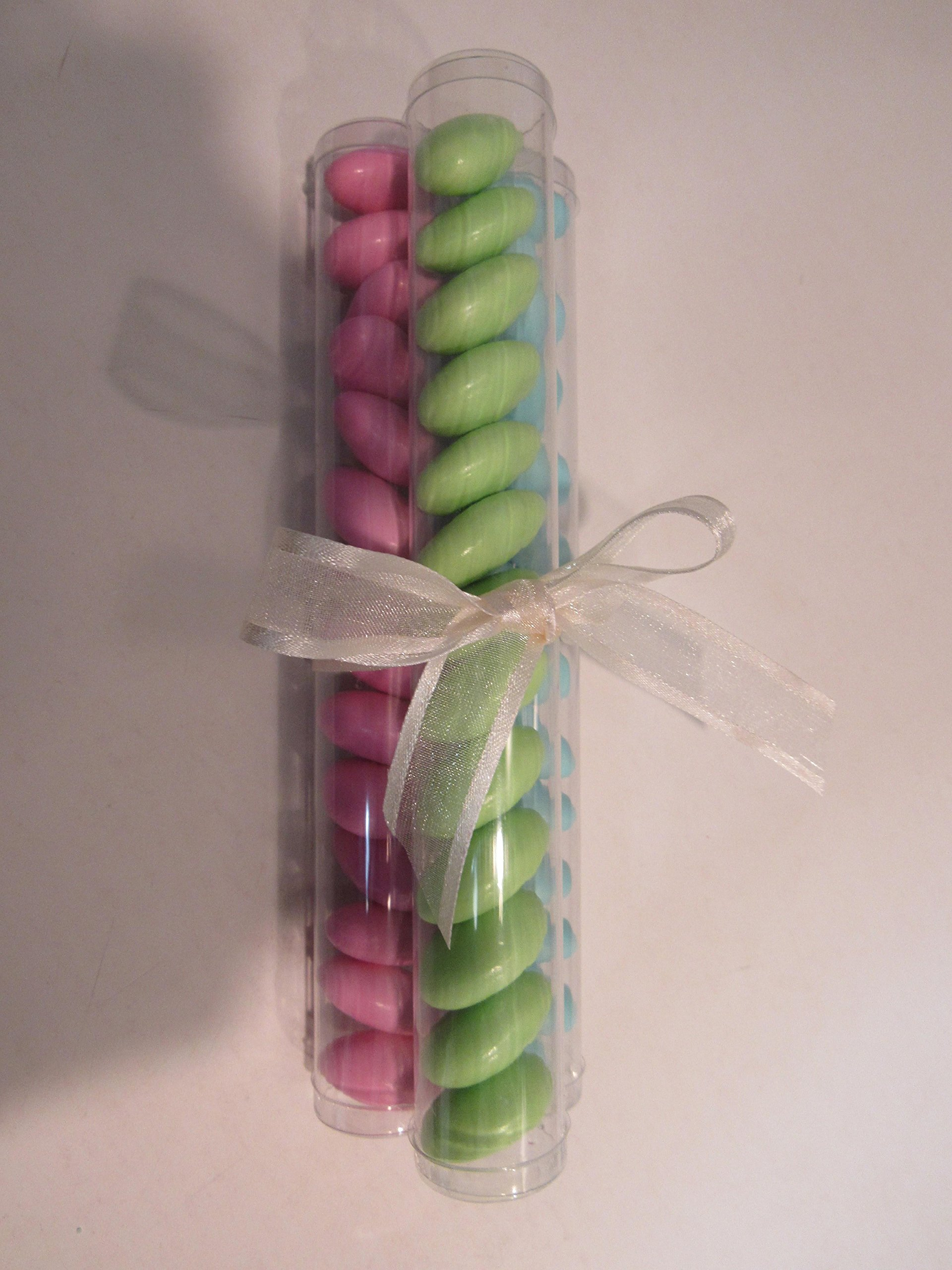 10 PCS Clear Candy Favor Party Tubes (1 X 7, Clear)