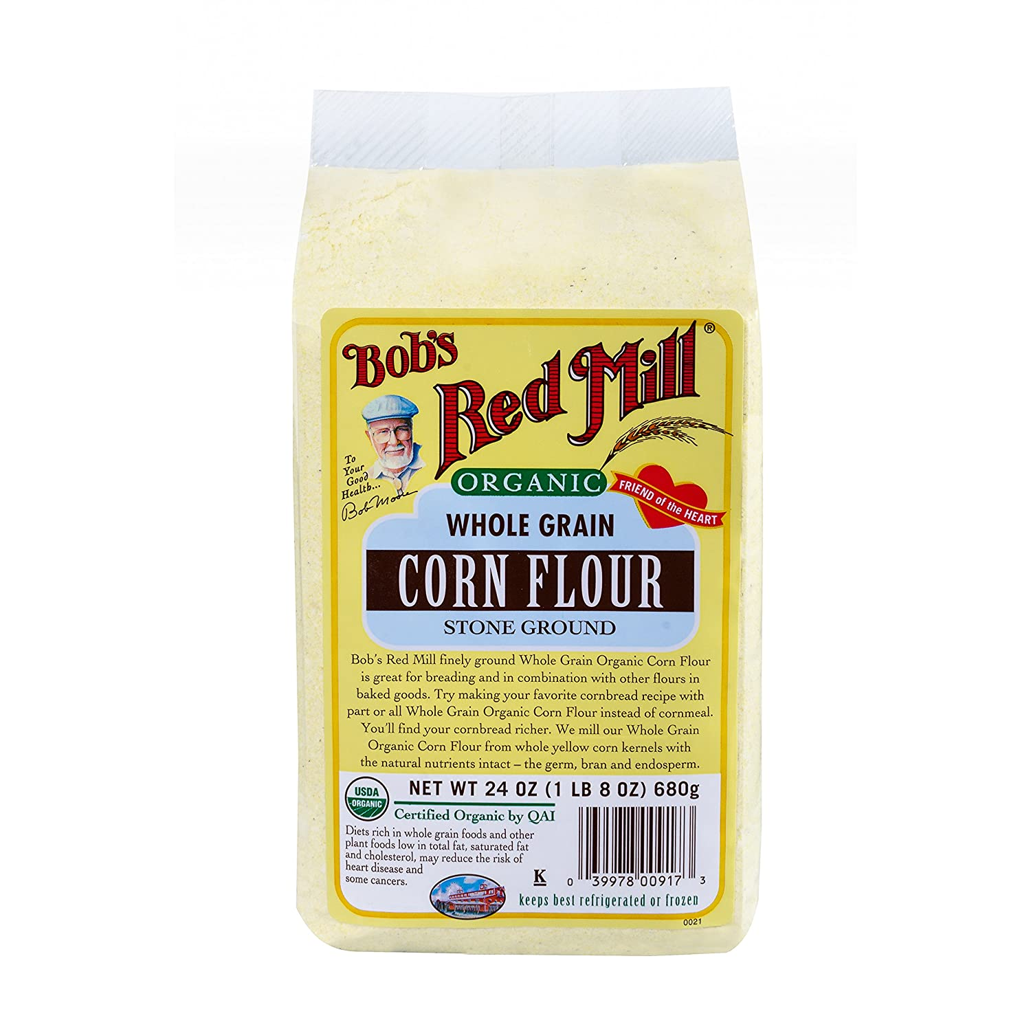 Amazon.com : Bobs Red Mill Organic Corn Flour, 25 Pound : Grocery & Gourmet Food