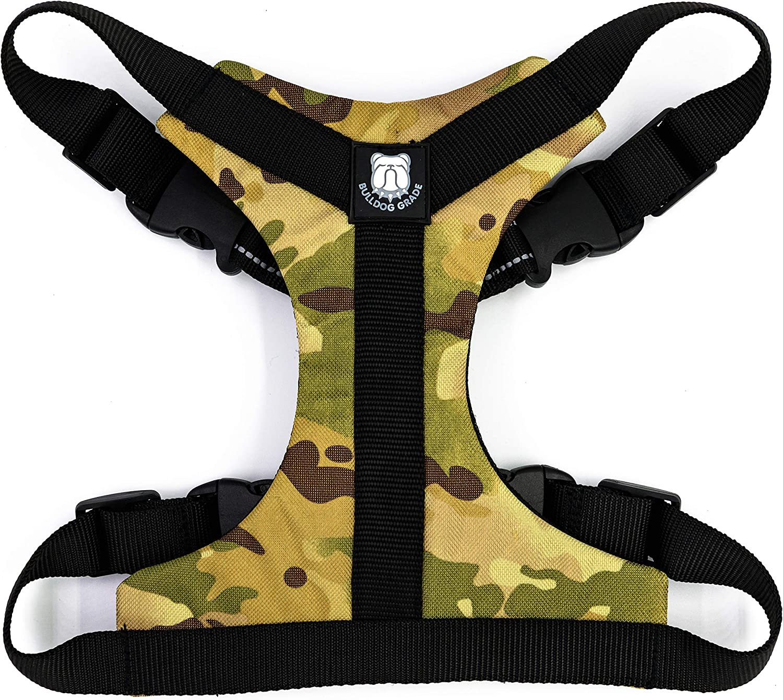 Mens Camouflage Neoprene Bulldog Harness Sports Protective Gear Shoulder Harenss
