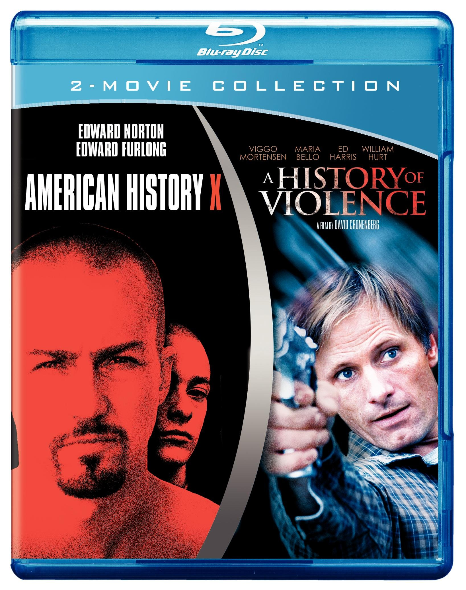 Blu-ray : American History X / A History of Violence (Blu-ray) {OU}