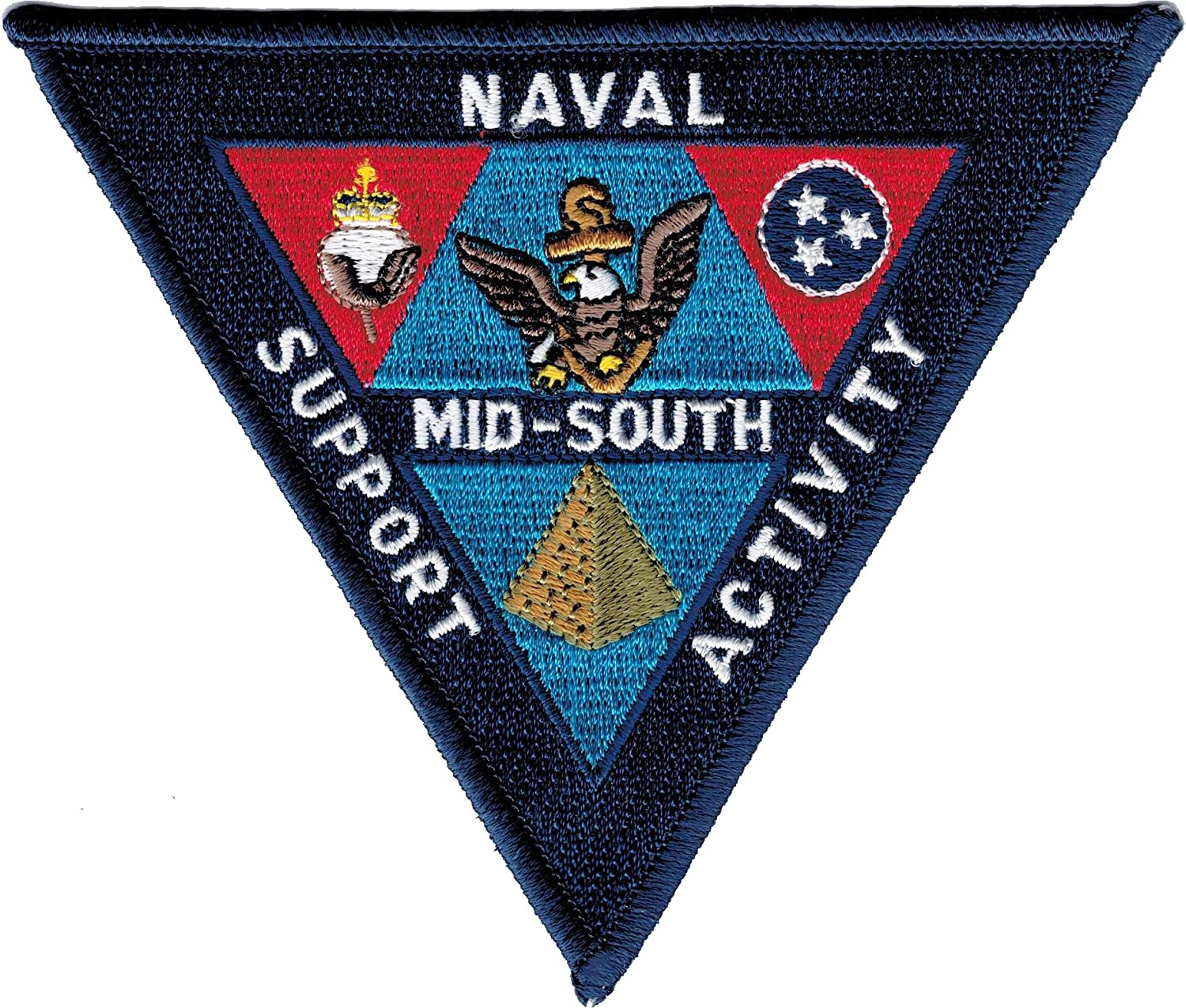 Eagle Crest Naval Support Activity Mid-South Iron-On Patch [Navy Blue - 4.5] 70625