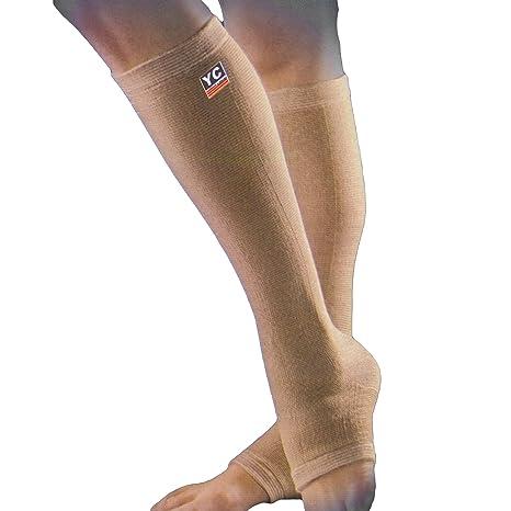 De los pies para el tobillo Color blanco manga doble con goma en ...