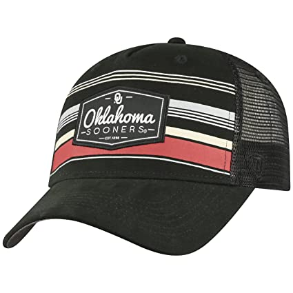 fef2b0656e211 Image Unavailable. Image not available for. Color  Top of the World  Oklahoma Sooners Official NCAA Adjustable Route Mesh Trucker Hat ...