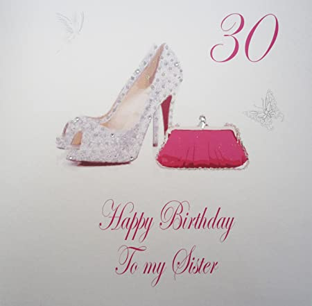 White Cotton Cards Xpds7 30 Large Pink 30 Happy Birthday To My