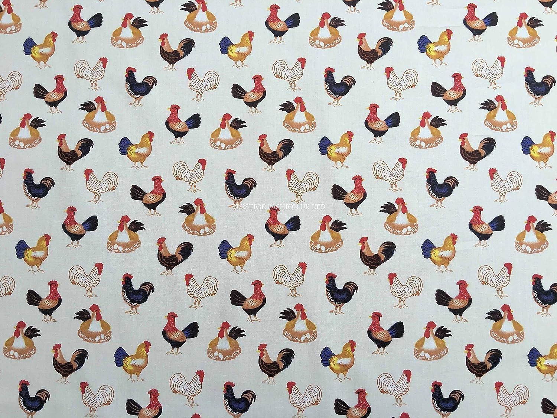 Diseño de pájaros de gallinas rosas y algodón electromaster vestido ...