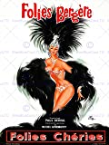 ADVERT THEATRE CABARET FOLIES BERGERE SHOWGIRL FEATHER FRANCE POSTER AFFICHE 30X40 CM 12X16 IN BB7981B