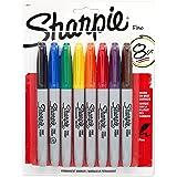 Sharpie Fine Point marqueurs permanents cardées 8/Pkg-divers coloris