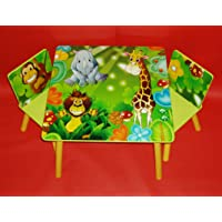 Rostrad ® Childrens Furniture Jungle Table and Chairs