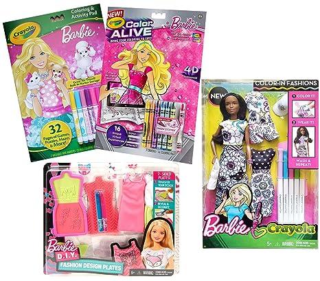 Amazon Com Barbie Coloring Books Doll Bundle Fashion Design