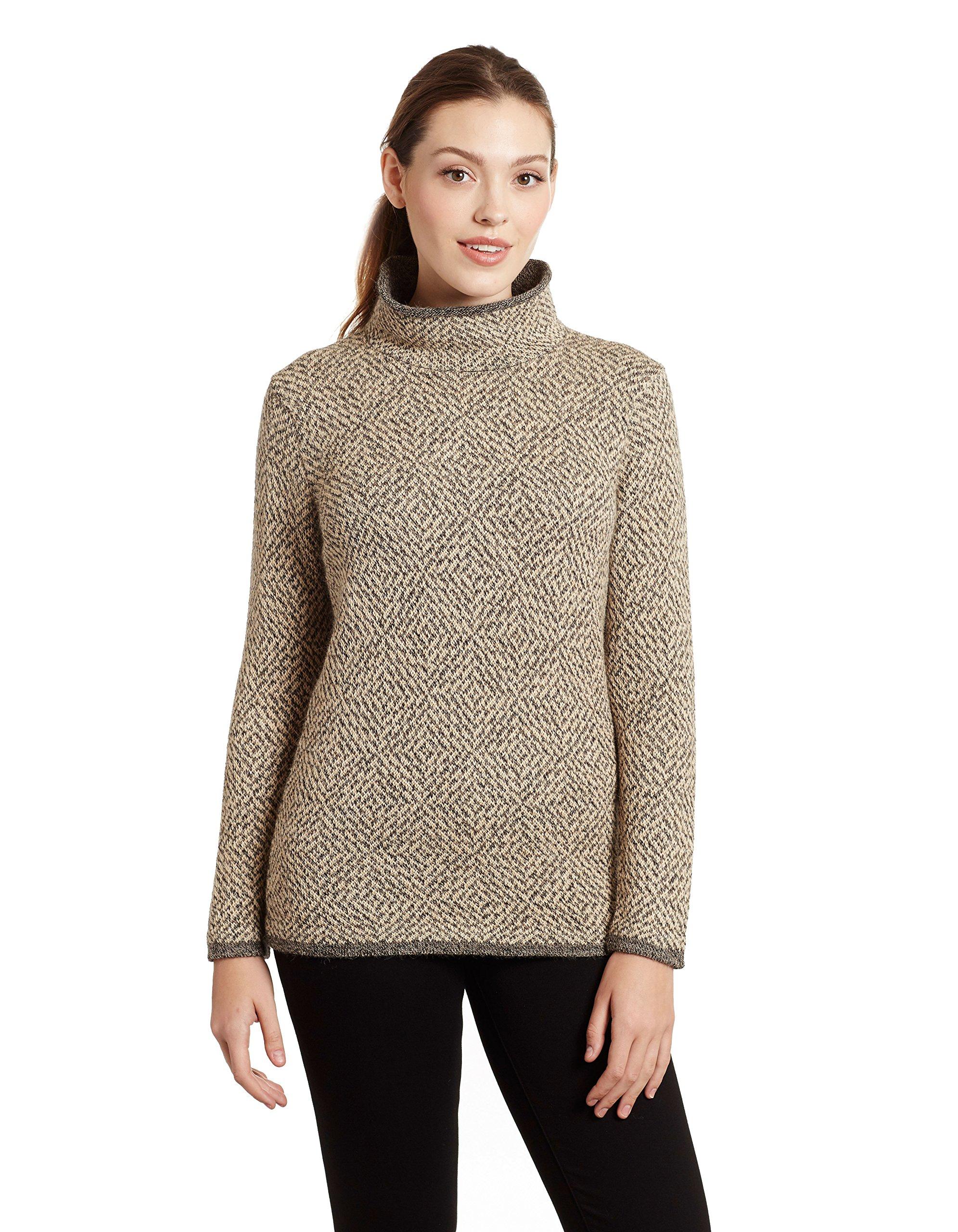 Invisible World Women's 100% Pure Alpaca Pullover Sweater Asti LG