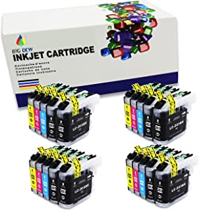 BIG DEW Compatible ink Cartridge Replacement For Brother LC203XL LC201 Ink Cartridge Used in Brother MFC-J480DW MFC-J4620DW MFCJ5720DW MFC-J4420DW MFC-J680DW MFC-J885DW(BK, C, M, Y. 20-Pack)