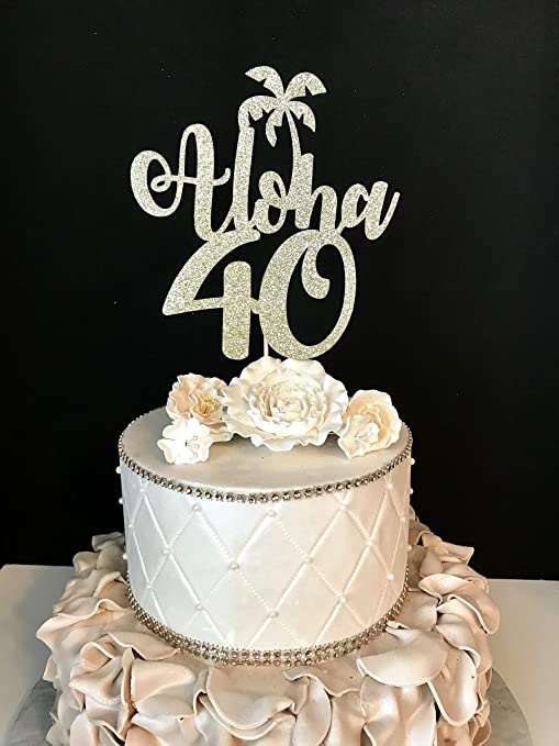 Amazing Funlaugh Any Number Gold Glitter Aloha 40 40Th Birthday Hawaiin Personalised Birthday Cards Cominlily Jamesorg