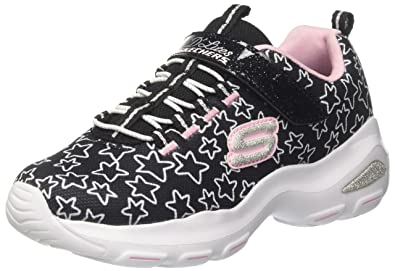 Skechers DLite Ultra-Star Sprinter, Zapatillas para Niñas, Negro (Black