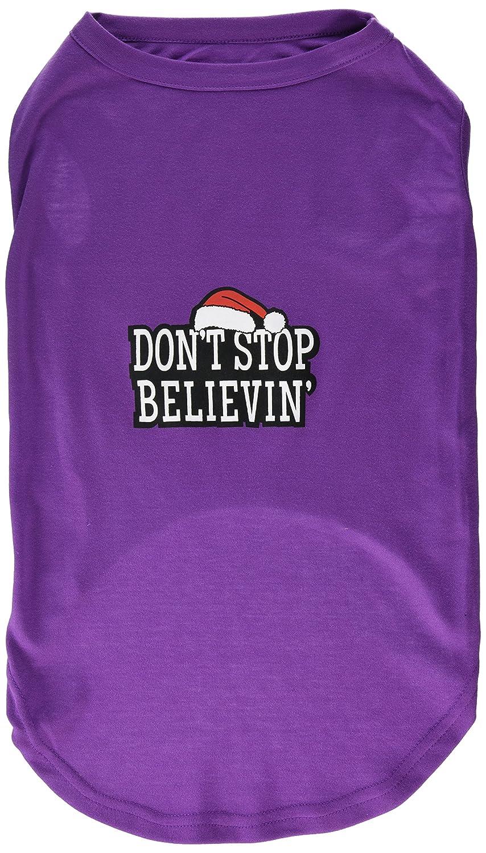 Dog   Cat   Pet Charms Don't Stop Believin' Screenprint Shirts Purple XXXL (20)