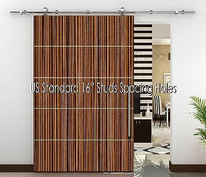 Amazon 984 82 Ft Modern Stainless Sliding Wood Barn Door