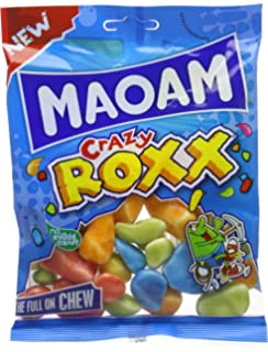 Haribo Maoam Crazy Roxx Sweet Foam Gums 140 G Pack Of 12