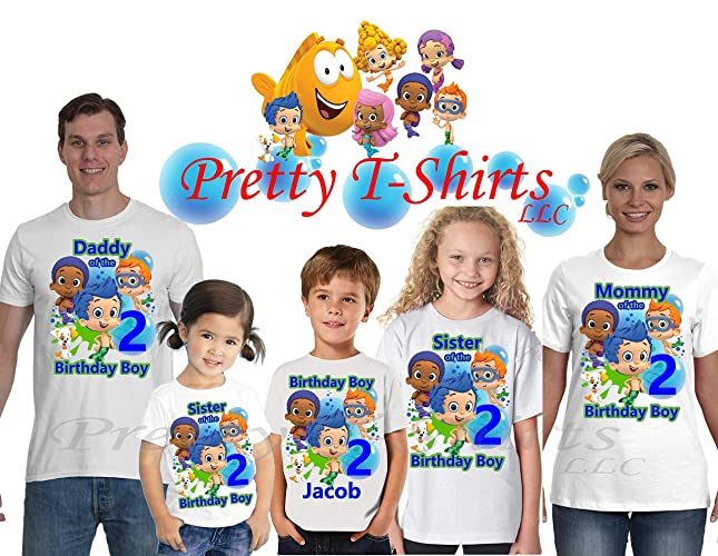 Tops T Shirts Personalized Bubble Guppies Birthday Boy Shirt