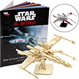 Star Wars X-Wing Book and 3D Wood Model Kit - Build, Paint and Collect Your Own Wooden Model - Great For Kids and Adults, 12+ - 5""