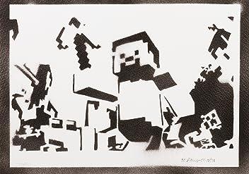 Minecraft Poster Handmade Graffiti Street Art - Artwork