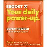 EBOOST SUPER POWDER Mind + Body Energizer, Orange Flavor, 20 Count