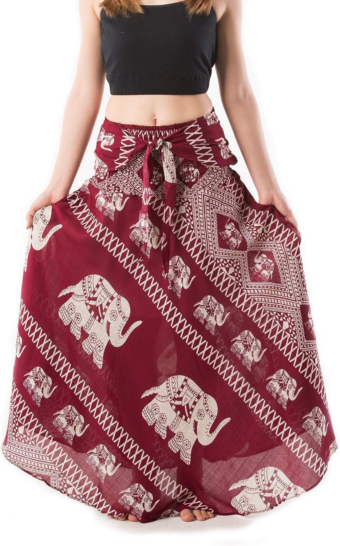 Banjamath Women's Long Bohemian Style Gypsy Boho Hippie Skirt