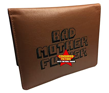 5f15acd5af BMF Embroidered Leather Wallet Passport Edition Brown