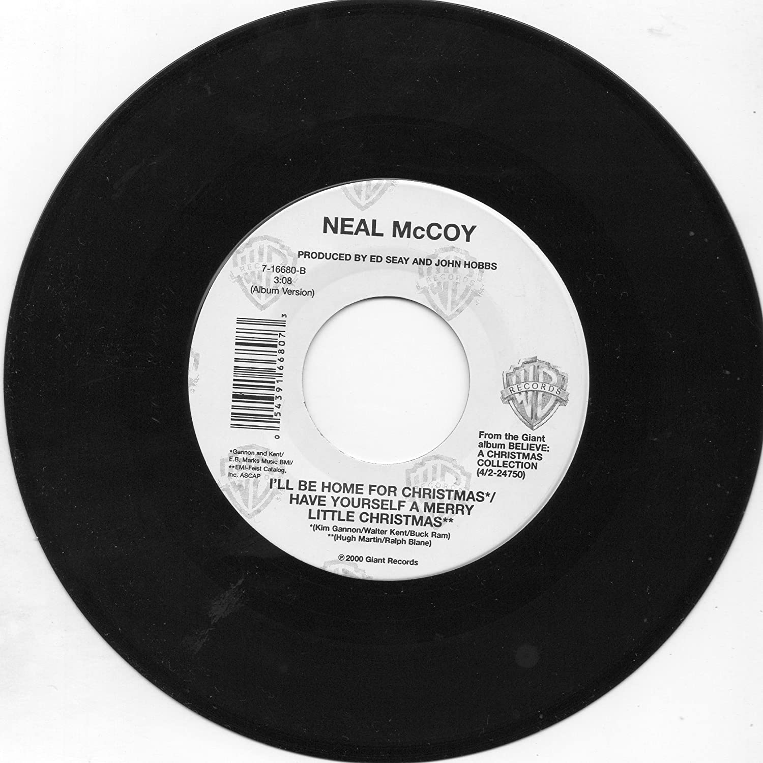 Neal McCoy - The Luckiest Man in the World=b/w I\'ll Be Home for ...