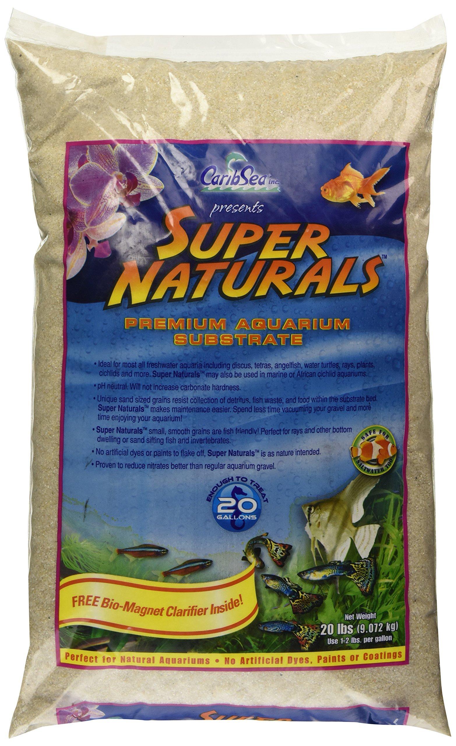 Caribsea Super Naturals Aquarium Sand, 20-Pound, Crystal River