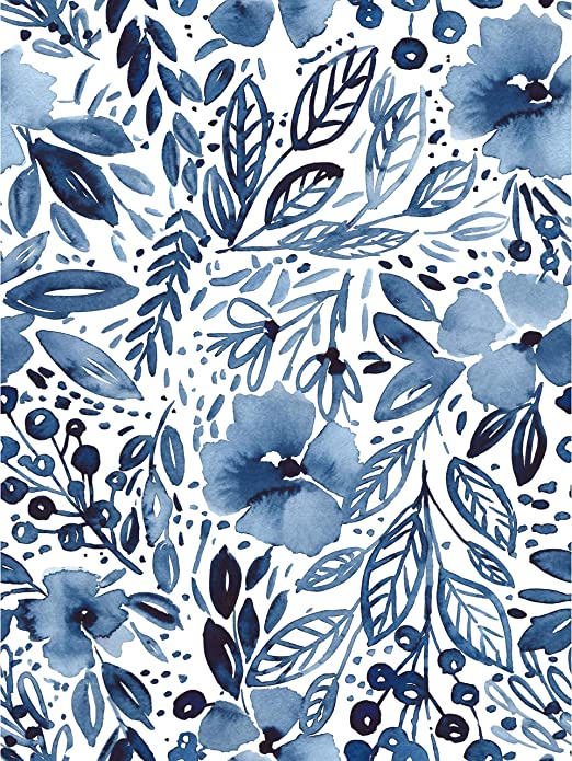 Amazon Com Roommates Clara Jean April Showers Blue Peel And Stick