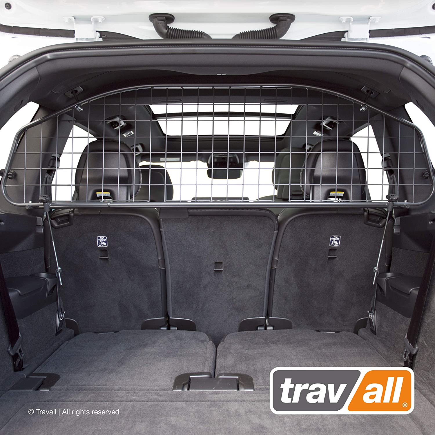 Travall Guard Compatible with Volvo XC90 2014-Current TDG1487 – Rattle-Free Steel Pet Barrier