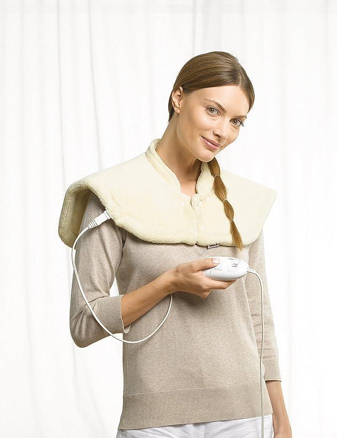 Beurer HK 54 - Almohadilla electrónica cuello/hombros, 56 x 52 cm, color crema: Amazon.es: Salud y cuidado personal