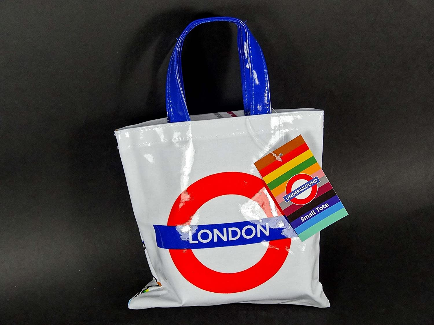 d3fd5ac68c Small PVC Bag - Plastic Coated Canvas Bag with Underground Map and London  Roundel Print, Transport for London Souvenir: Amazon.co.uk: Kitchen & Home