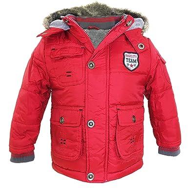 8227881b139a Baby Boys Winter Hooded Jacket Toddler Coat Kids Varsity Team Jacket ...