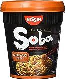 NISSIN Foods Soba Cup Sukiyaki Beef, 8er Pack (8 x 89 g)