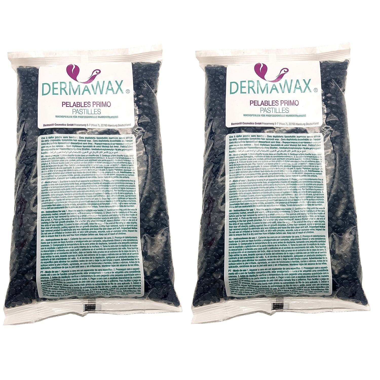 Perlas de cera premium de baja temperatura Azulene 2 kg para depilación, depilación Dermastil