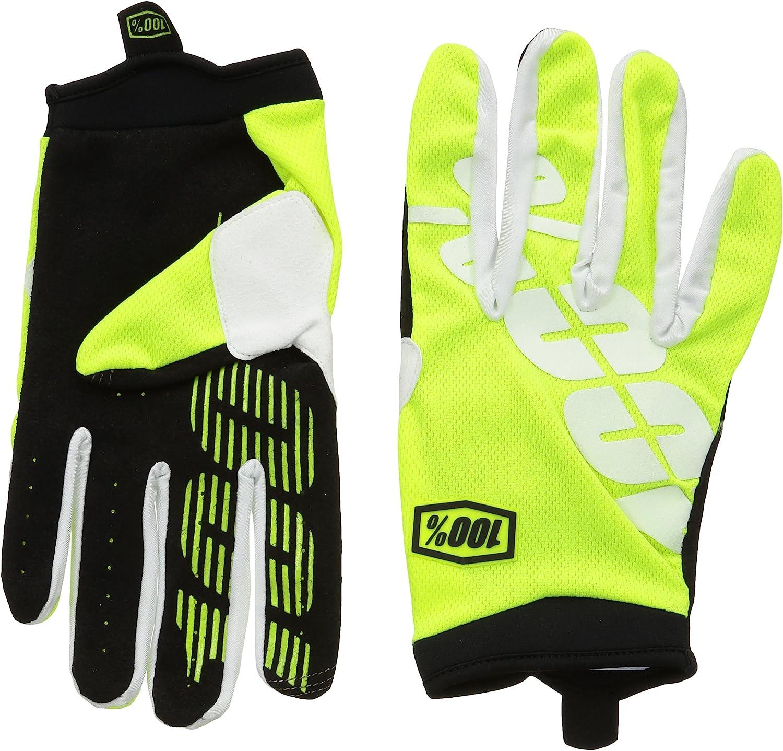 100/% iTrack Glove Mens Neon Yellow M 10002-004-11