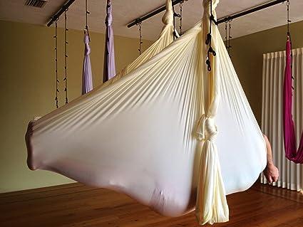 Deluxe Aerial Yoga Hammock (Yoga Swing, Aerial Yoga) (Baby Yellow)