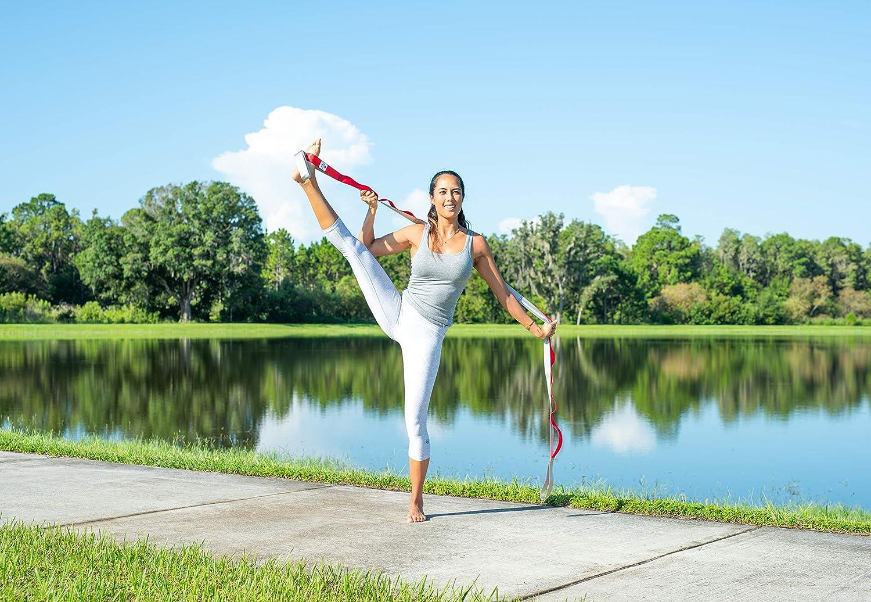 VIVILIAN Yoga Band Dehnungsg/ürtel Yoga Gurt Stretchb/änder Heimausstattung f/ür Ballett Taekwondo Yoga Gymnastik /Übungen
