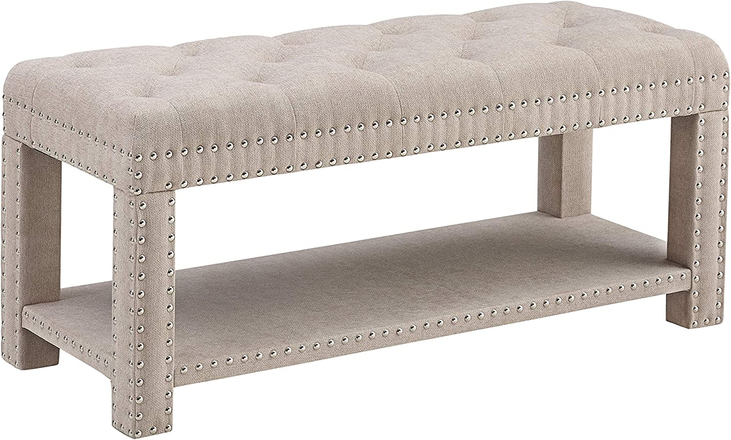 Linon Home Clea Upholstered Bench
