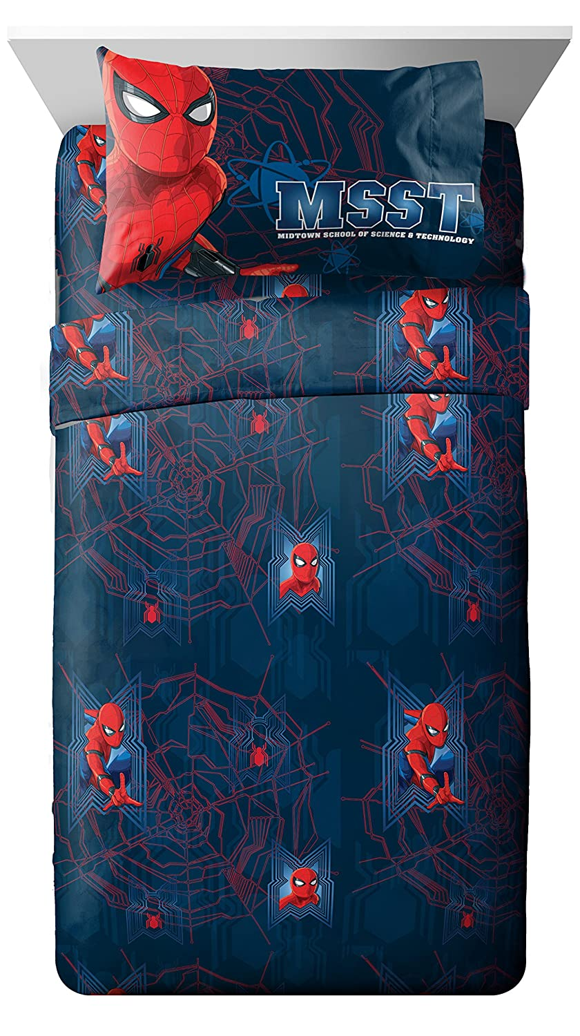 Marvel Spiderman Homecoming Attack 4 Piece Full Sheet Set, 4