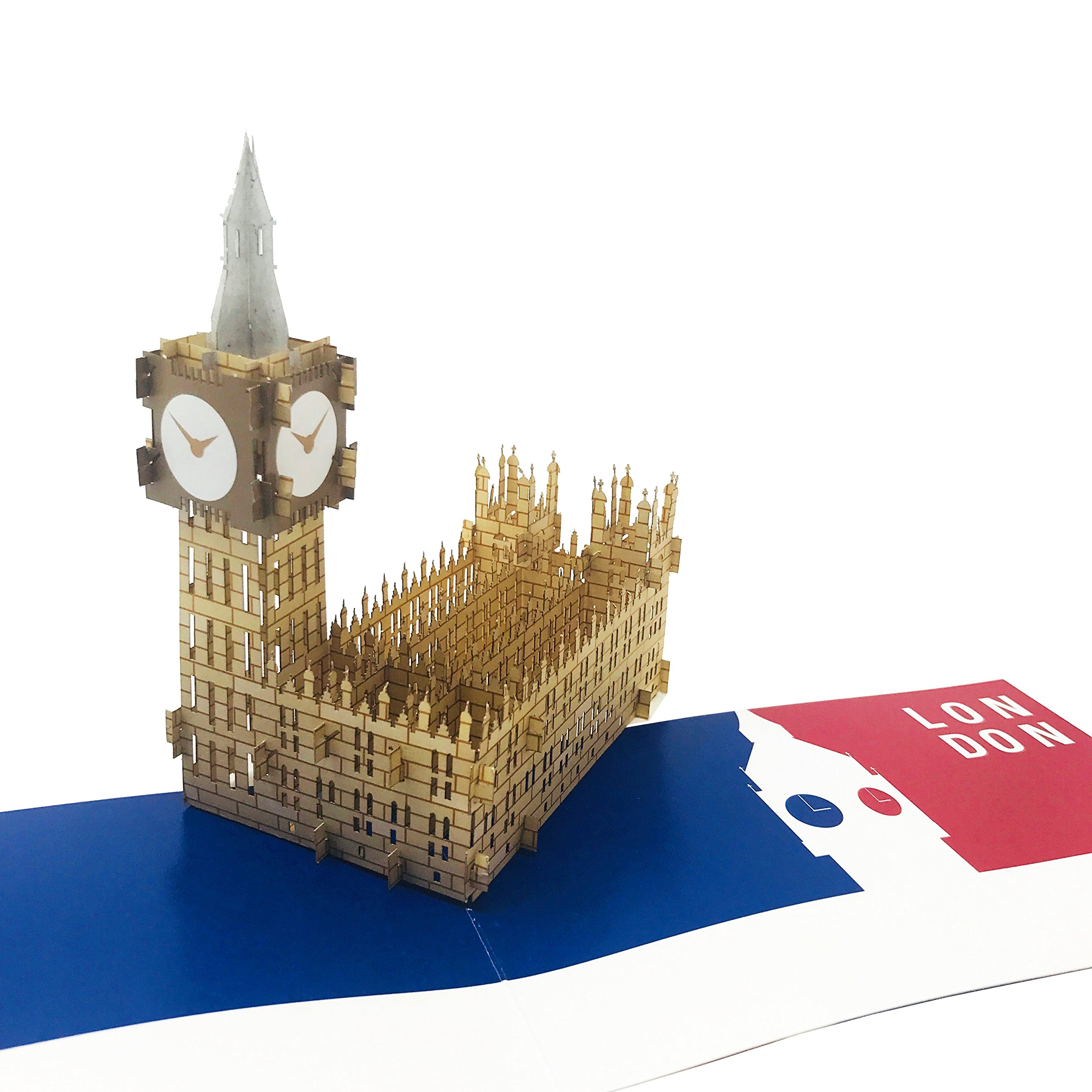 Wow London Big Ben Great Tower 3d Pop Up Greeting Card For All