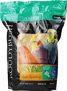 RoudyBush Daily Maintenance Bird Food, Crumbles, 10-Pound