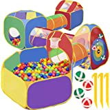 7 Piece Play Tunnel And Tent For Kids | With 4 Dart Balls | Kids Baby Ball Pit For Babies Playhouse For Toddlers Boys Girls |