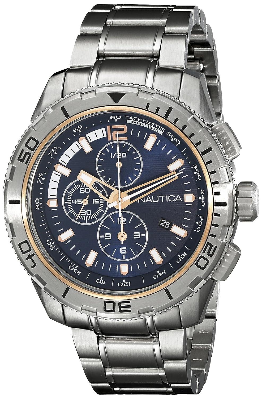 Nautica Men s NAD24500G NST 101 Analog Display Japanese Quartz Silver Watch