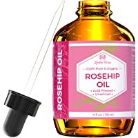 Rosehip Seed Oil by Leven Rose, 100% Pure Organic Unrefined Cold Pressed Anti Aging...