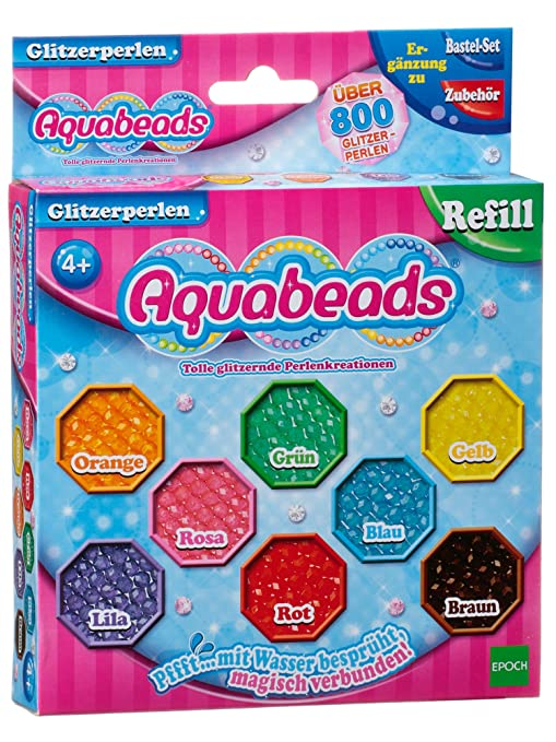 Aquabeads 79378 Set Di Perline Glitterate Per Lavoretti Manuali